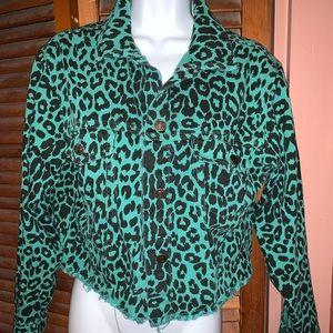 Leopard jean jacket ! Green